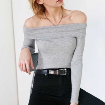Off Shoulder Cotton T-Shirt