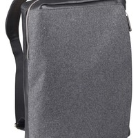 MaisonMartinMargiela Black leather and felt backpack