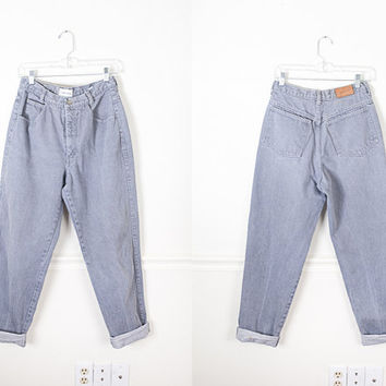 1980s Gray Calvin Klein Jeans / High Waist Denim Jeans / Grey Denim Boyfriend Jeans / 90s Grunge Relaxed Fit Jeans / High Waisted Jeans