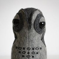 Stuffed Animal Owl - Natural Felt Toy Owl ForestMisha - Artist Teddy Bear - Stuffed Owl Soft Toy
