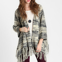 North Dakota Fringed Cardigan - $59.00 : ThreadSence, Women's Indie & Bohemian Clothing, Dresses, & Accessories