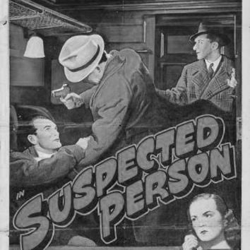 Suspected Person poster Metal Sign Wall Art 8in x 12in Black and White