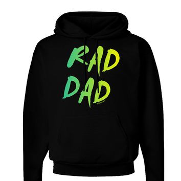 Rad Dad Design - 80s Neon Dark Hoodie Sweatshirt