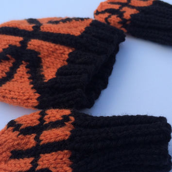 Basketball Hat and Mittens for a Newborn (0-3 months), basketball, basketball hat for baby, basketball hat, basketball mittens, baby hat