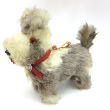 Miniature Toy Dog - German Fur Schnauzer with Original Tag