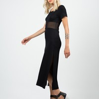 Meshy T-Shirt Maxi Dress