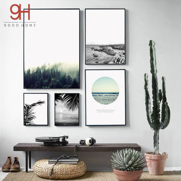 Nordic Landscape Canvas Art Print Painting Poster, Giclee Print Wall Pictures For Home Decoration, Wall Decor BW005