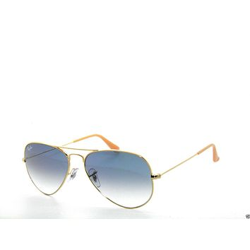 Tagre™ Cheap BEST DEAL*RAY BAN SunglaSSeS 3025 Rayban 001/3F Gold/BLUE Gradient AVIATORS 62