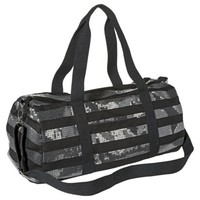 Mossimo Supply Co. Striped Sequin Weekender Handbag with Removable Crossbody Strap - Black