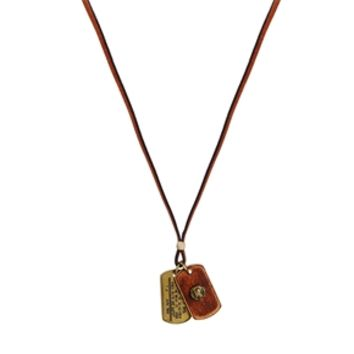 Diesel Adog Necklace - Tan