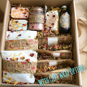 Deluxe Bath Spa Kit, Bath gift set,Herbal Bath Box, beauty Bath, Thank you gift, Getwell  gift set, soaps, birthday gift, Anniversary gift,