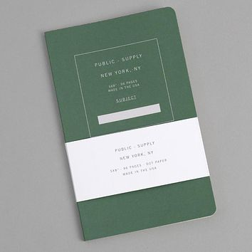 Dot Grid Notebook, Green 01