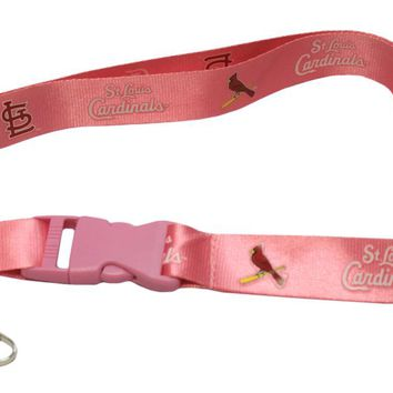 St. Louis Cardinals Lanyard - Breakaway with Key Ring - Pink