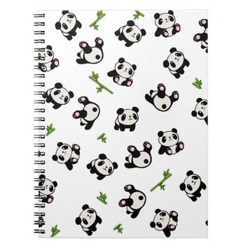 Panda pattern notebook
