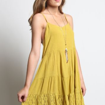 Umgee Tie Back Peasant Dress
