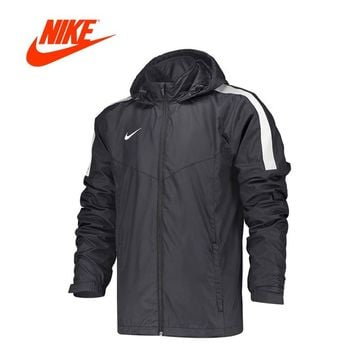 Original Nike Men's sports Stand collar hooded windproof clothes peg woven jacket