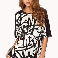 City-Chic Abstract Top