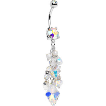 Handcrafted Aurora Gem Marie Antoinette Dangle Belly Ring