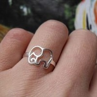 Cute 925 Sterling Silver Elephant Ring — accessoryinlove