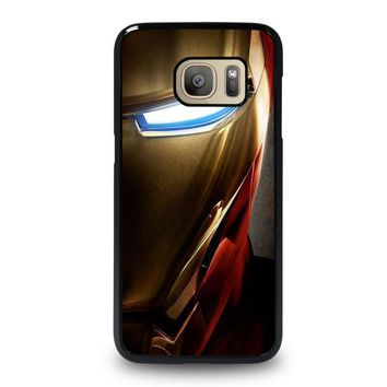 iron man face samsung galaxy s7 case cover  number 1