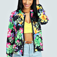 Lissi Tropical Floral Lightweight Bomber