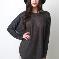 Two Tone Casual Knit Top