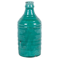"14"" Crackled Jar, Turquoise, Jars, Canisters, Tins & Bottles"