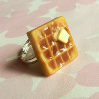 buttery waffle ring polymer clay