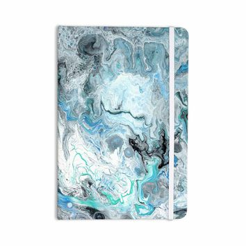 """Catherine Holcombe """"Wave Crash Marble"""" Blue Teal Abstract Coastal Painting Everything Notebook"""