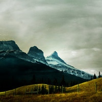 Canadian Rockies Photography Print 11x14 Fine Art Banff Winter Mountain Countryside Landscape Photography Print.