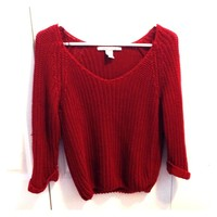 Red knit sweater- American Rag