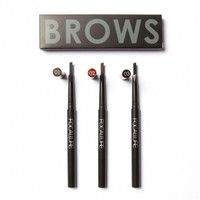 Professional Waterproof Auto Dual Eyebrow Pencil & Brush