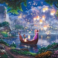 Tangled by Thomas Kinkade Disney Dreams Canvas Multiple Sizes Available