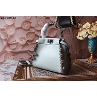 FENDI WOMEN'S NEW STYLE LEATHER HANDBAG INCLINED SHOULDER BAG