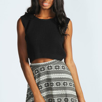 Cleo Brushed Knit Skater Skirt