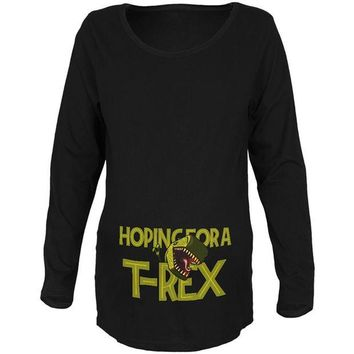 DCCKJY1 We're Hoping for a T-Rex Funny Cute Maternity Soft Long Sleeve T Shirt