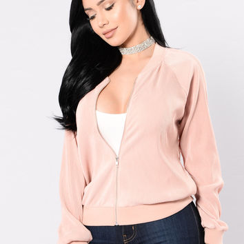 One Thing On My Mind Jacket - Blush