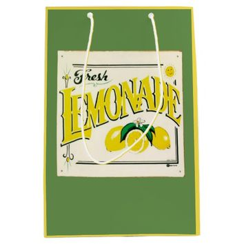 Vintage fresh lemonade sign gift bag