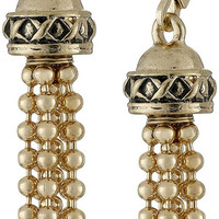 "Napier ""High Low"" Gold-Tone Tassel Drop Earrings"