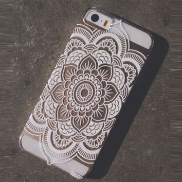 Henna Full Mandala Floral Dream Catcher Case Cover for iPhone 5 5S