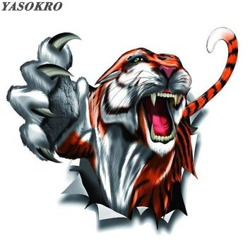 YASOKRO Waterproof Totem Car Sticker Tiger Claw Stickers Perfect Shade Scratch Creative Decals Cyter for Car 15*16cm