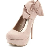 Sueded Side-Bow Pump: Charlotte Russe