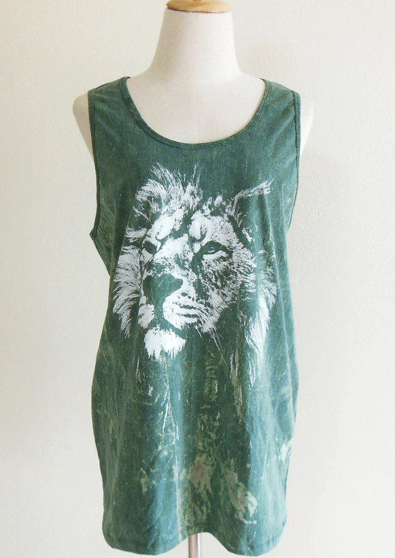 Lion King Face Animal Style Lion Tank Top Animal by sinclothing