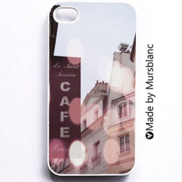 Iphone 4 Case Paris Cafe France Le Saint Severin by HipsterCases