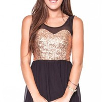 Run Free dress in gold  | Show Pony Fashion online shopping