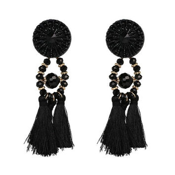 Exage Fringe Tassel Earrings