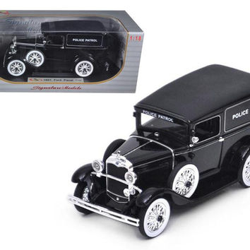 1931 Ford Panel Police Wagon 1-18 Diecast Model Car by Signature Models