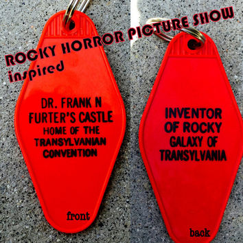 "ROCKY HORROR Picture Show inspired ""Dr. Frank N Furter's Castle"" keytag"
