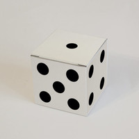 10 White, Gray and Kraft Dice pattern Gift Boxes 2.36x2.36x2.36 I Cube boxes I Custom boxes