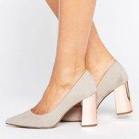 New Look Wide Fit Pointed Court Heel at asos.com
